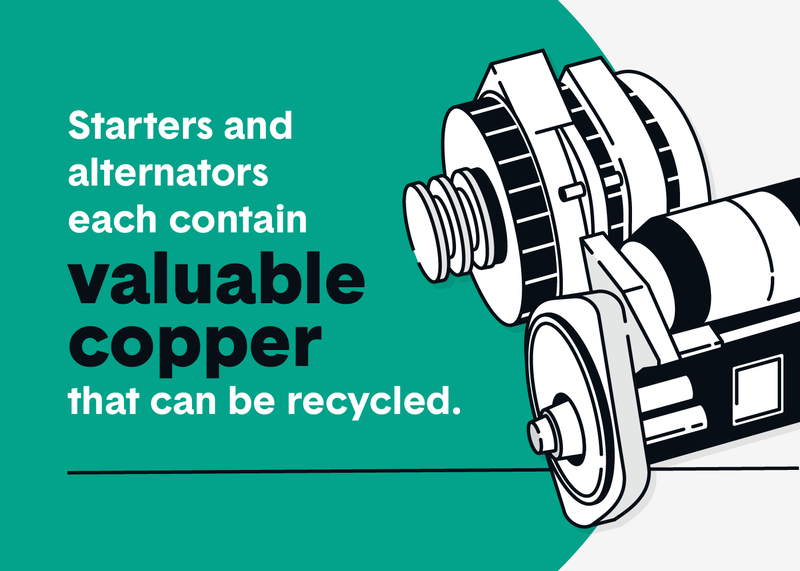 recycling starters and alternators